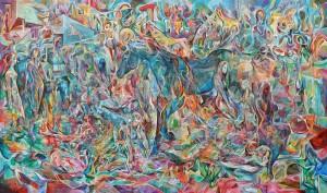 Uzun Yol Arkadaşı - Tuval üzerine akrilik boya - 2016 - 130x220cm