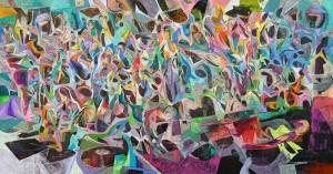 Giderken ne çalsın istersiniz - Tuval üzerine akrilik boya - 2014 - 110x210cm