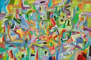 Vahşi Geçmiş - Tuval üzerine yağlı boya - 2013 - 160x105cm