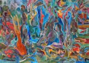 Gençlik Çağı - Tuval üzerine akrilik boya - 2016 - 102x144cm