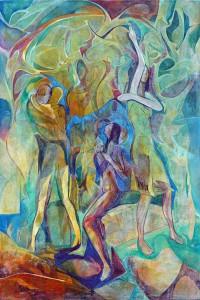 Şimdi Çizgisi - Tuval üzerine akrilik boya - 2016 - 120x80cm