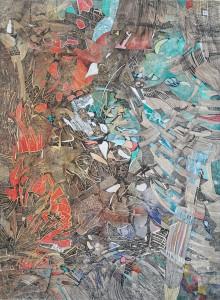 Sine - Tuval üzerine akrilik boya ve mürekkep - 2008 - 115x85cm
