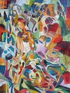 Şarkıcı - Tuval üzerine yağlı boya - 2013 - 105x80cm