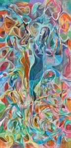 Dansçı - Tuval üzerine akrilik boya - 2016 - 120x58cm