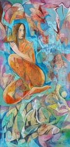 Çapraz - Tuval üzerine akrilik boya - 2016 - 120x58cm