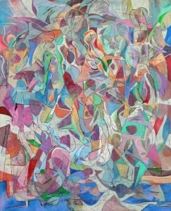 Yaz Şarkıları - Tuval üzerine akrilik boya - 2014 - 105x85cm