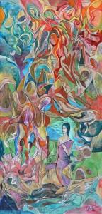Uyanış - Tuval üzerine akrilik boya - 2016 - 120x58cm