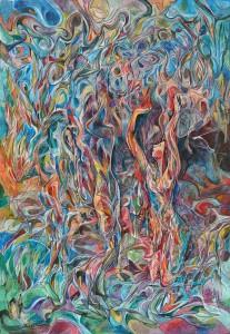 Hislerin Geçit Töreni - Tuval üzerine akrilik boya - 2016 - 110x75cm