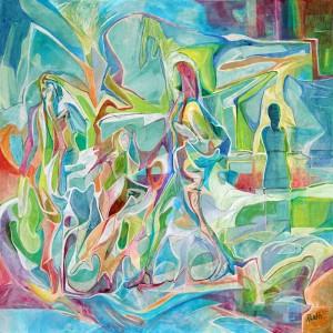 Walk Unafraid - Tuval üzerine akrilik boya - 2015 - 70x70cm