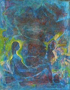 Kapalı Oturum - Tuval üzerine akrilik boya - 2016 - 65x50cm