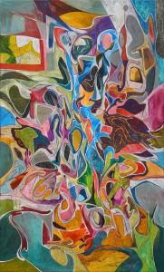 On Dakika Ara - Tuval üzerine akrilik boya - 2016 - 99,5x60cm