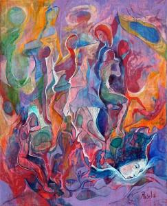 Hayale Dalış - Tuval üzerine akrilik boya - 2016 - 50x40cm