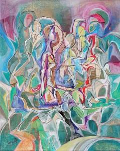 Dinginlik - Tuval üzerine akrilik boya - 2015 - 50x40cm