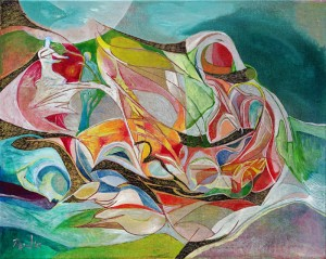 Kendine Yardım - Tuval üzerine akrilik boya - 2015 - 40x50cm