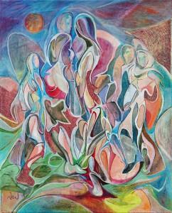 Temas - Tuval üzerine akrilik boya - 2015 - 50x40cm